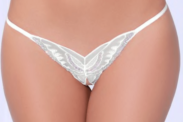 Seven Til Midnight Crotchless panties Open-Back Butterfly Tanga