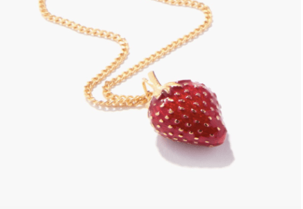 strawberry red necklace