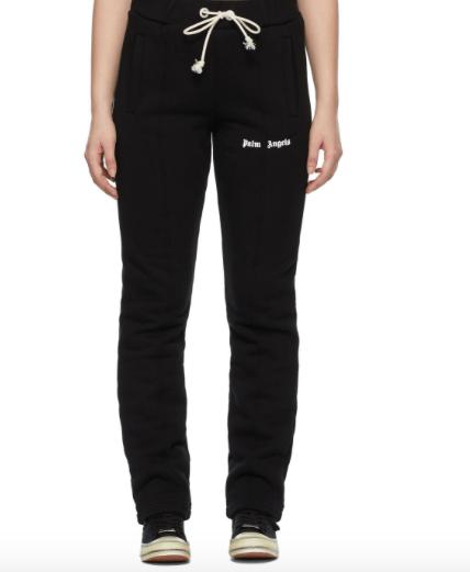 palm angels black lounge pants