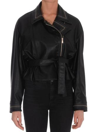 Pinko Faux-Leather Jacket