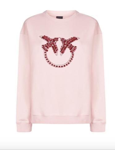 Pinko Crystal Embellished Sweatshirt