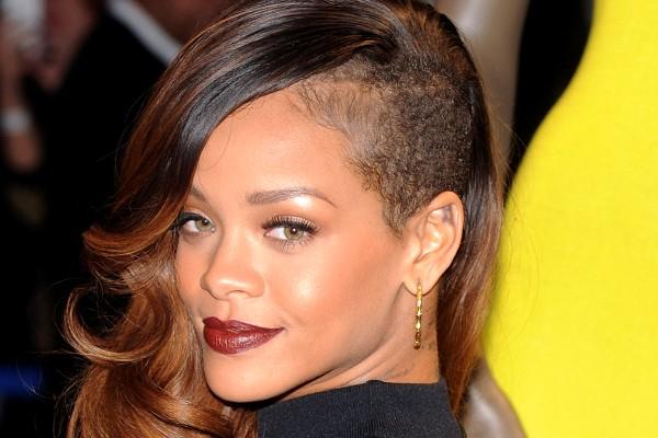 Rihanna rocks an undercut.