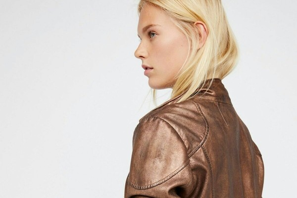 How to rock a bronze jacket.