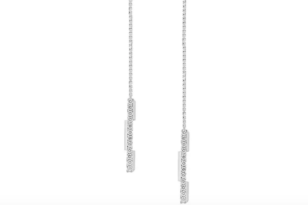 white gold and diamond Gucci earrings