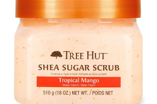 Tree Hut Shea Sugar Scrub- Tropical Mango is great for healing skin.