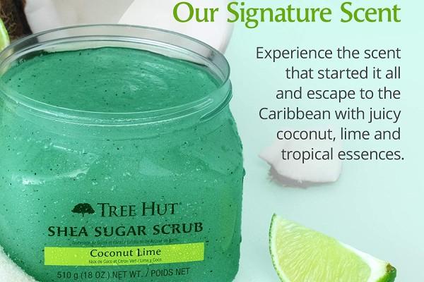 Tree Hut Shea Sugar Scrub- Coconut Lime comes with a signature scent.