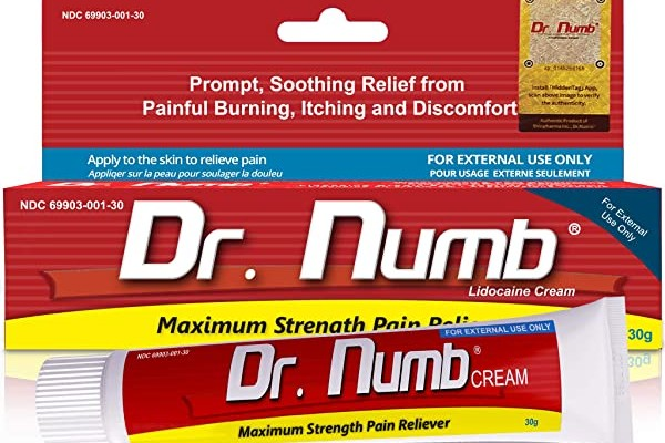 Dr. Numb Topical Anesthetic Cream is a non-greasy skin numbing cream.