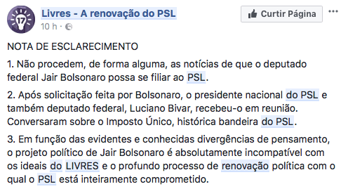 Bolsonaro pode deixar o PATRIOTA para disputar a eleição de 2018 por outro partido 16