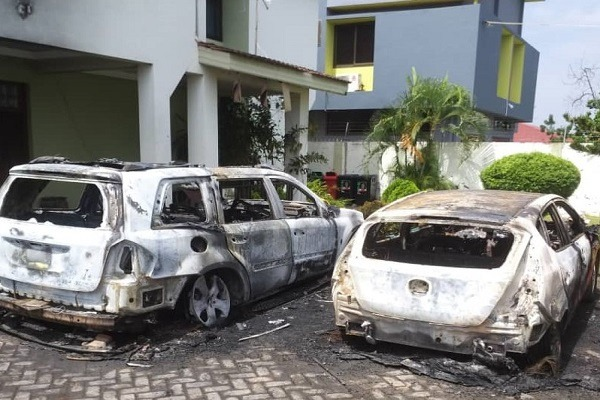 Ebi Bright cars burnt down