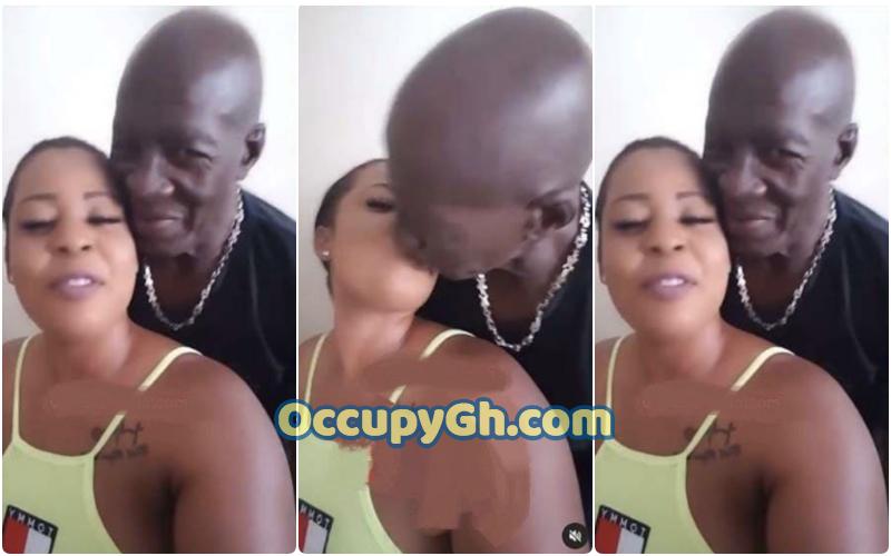 Old Man Caught Chopping Girlfriend