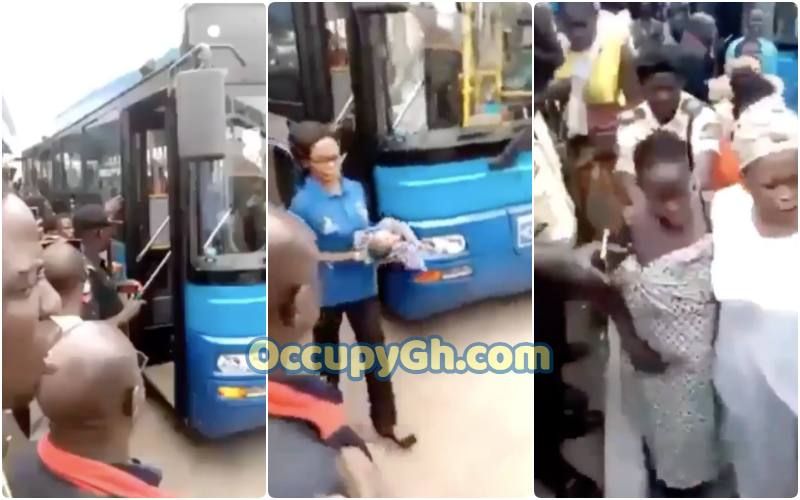Woman Gives Birth child On Bus