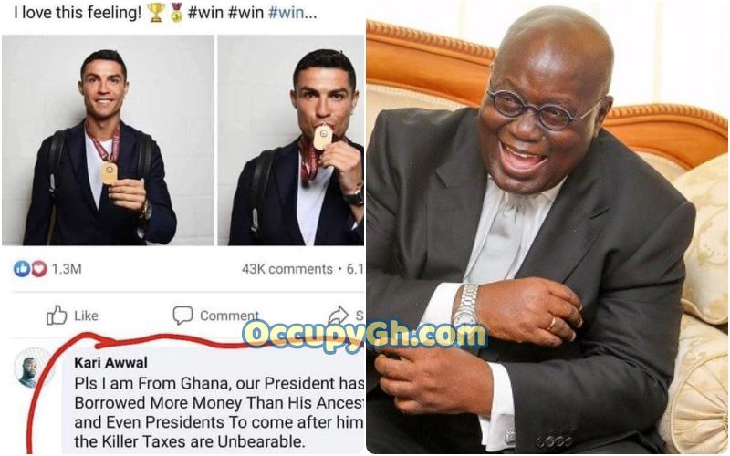 Ghanaian Man Begs Cristiano Ronaldo Adopt Him