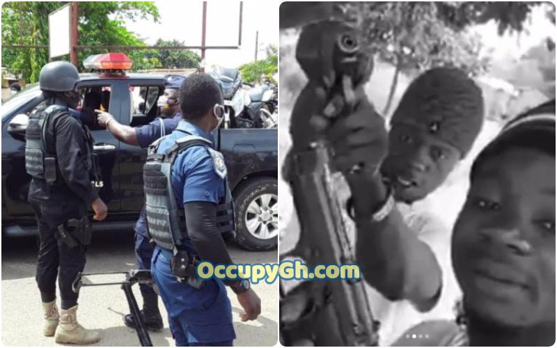 police arrest gun holding men