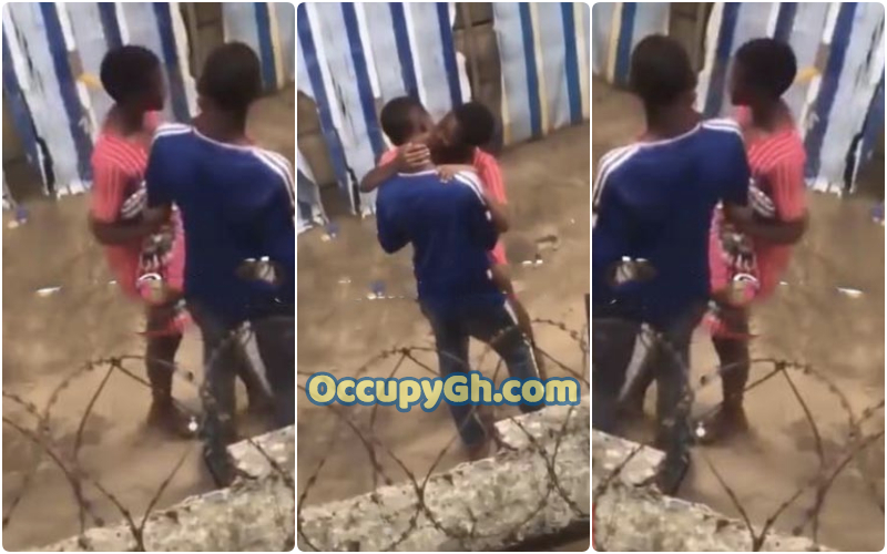 Young Lovers Caught Kissing public