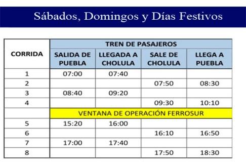 horarios tren turistico_dias festivos