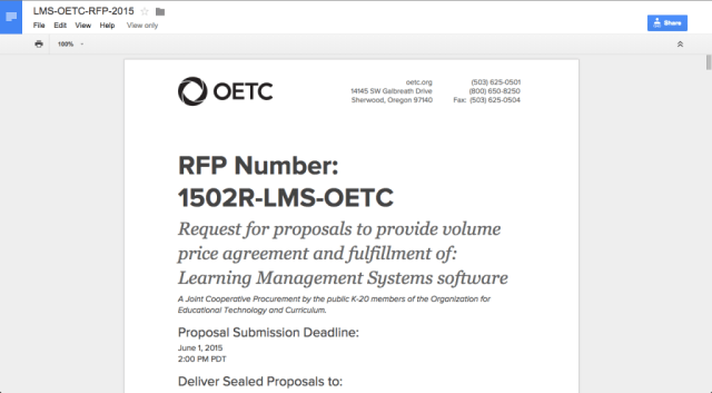 How to Access OETC's RFP Documents on Google Drive - OETC