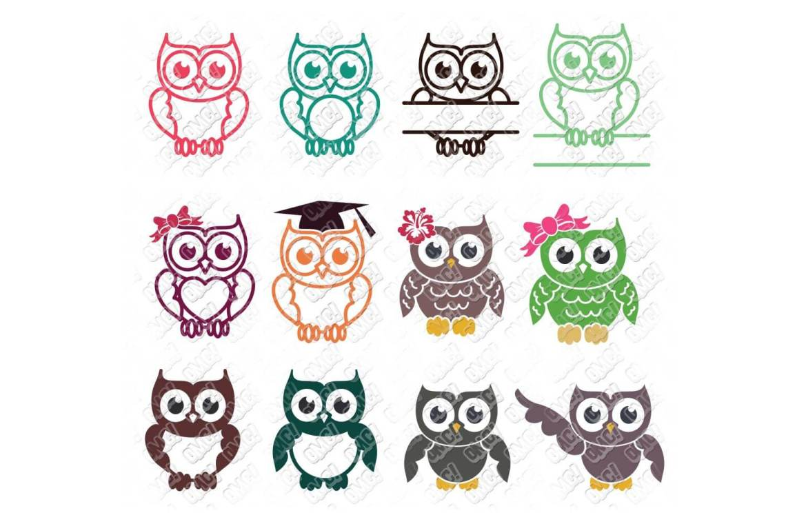 Download Owl SVG Bundle in SVG/DXF/EPS/JPG/PNG • OhMyCuttables