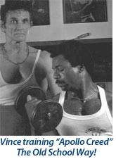 "Vince training ""Apollo Creed"""