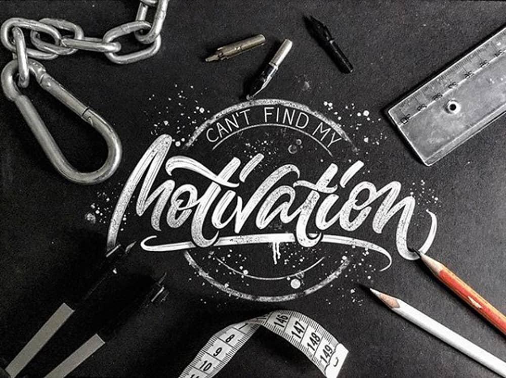 Motivation lettering por Albi Letters