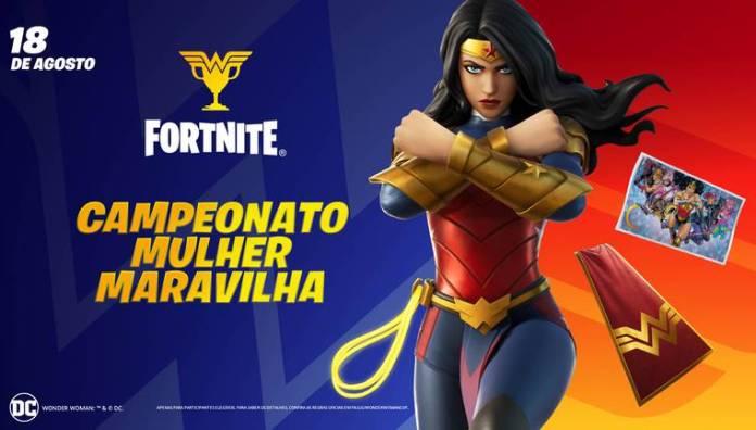 fortnite batte royale epic games dc comics mulher-maravilha campeonato mulher maravilha