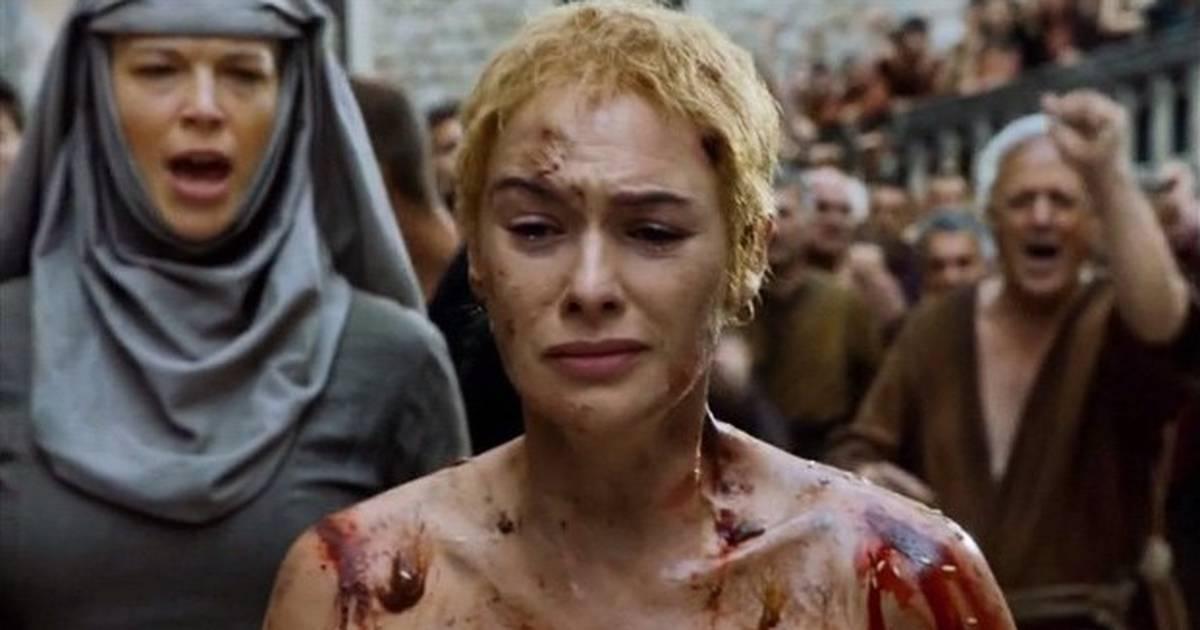 Resultado de imagem para caminhada vergonha cersei