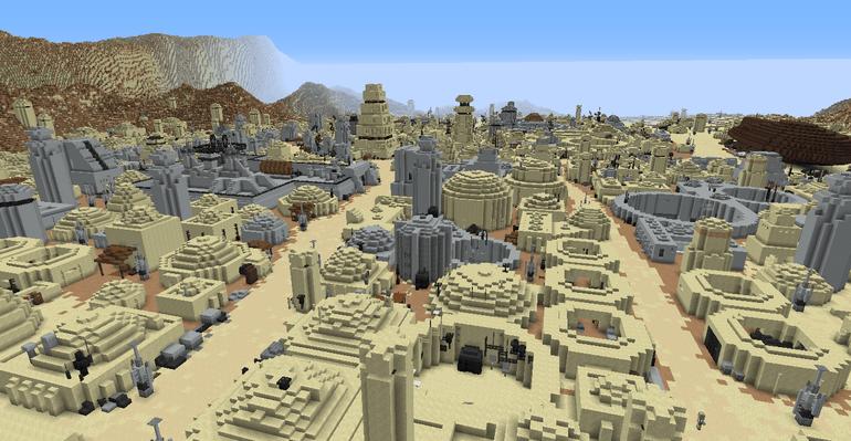 Tatooine in Minecraft.