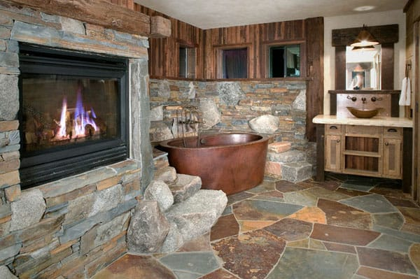 Stone Wall Bathroom-11-1 Kindesign