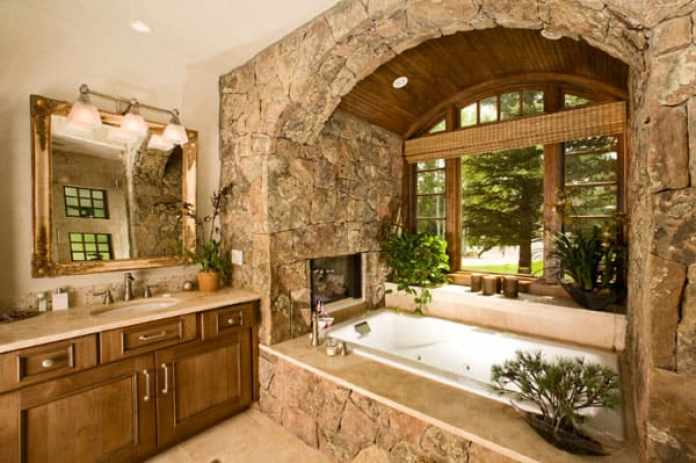 Stone Wall Bathroom-51-1 Kindesign