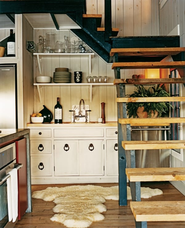 55 Amazing Space Saving Kitchens Under The Stairs | Creative Stairs For Small Spaces | Build In Storage | Compact | Interior | Round Shape | Wooden