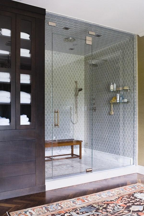 floor to ceiling shower tile