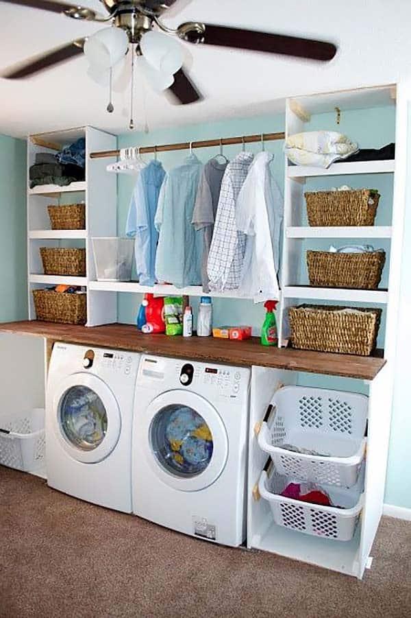 Small Laundry Room Design Ideas-03-1 Kindesign