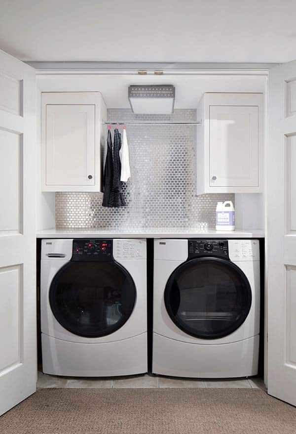 Small Laundry Room Design Ideas-05-1 Kindesign