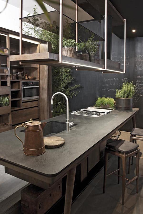 40 Amazing and stylish kitchens with concrete countertops Kitchen Concrete Countertops 01 1 Kindesign