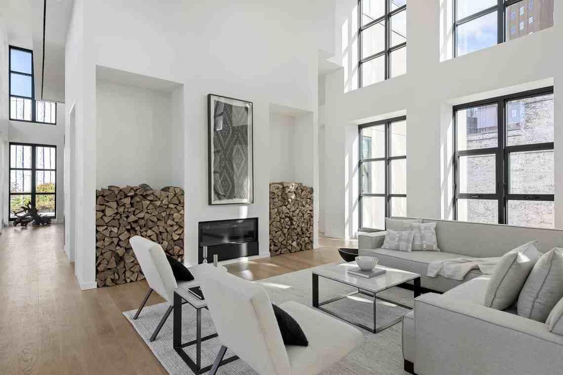 A sleek minimalist penthouse in the heart of TriBeCa, NY