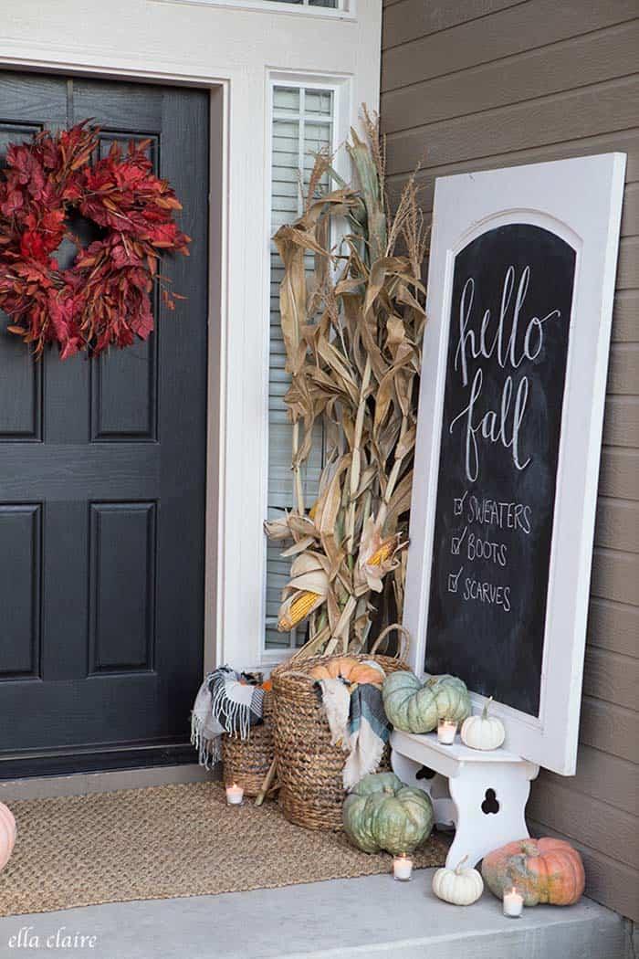 50 Absolutely Gorgeous Farmhouse Fall Decorating Ideas