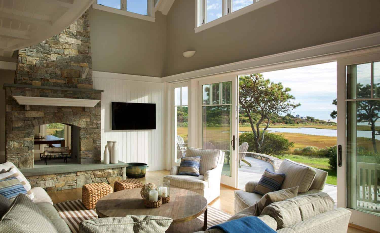 Seaside Home On Marthas Vineyard Inspired By Nautical