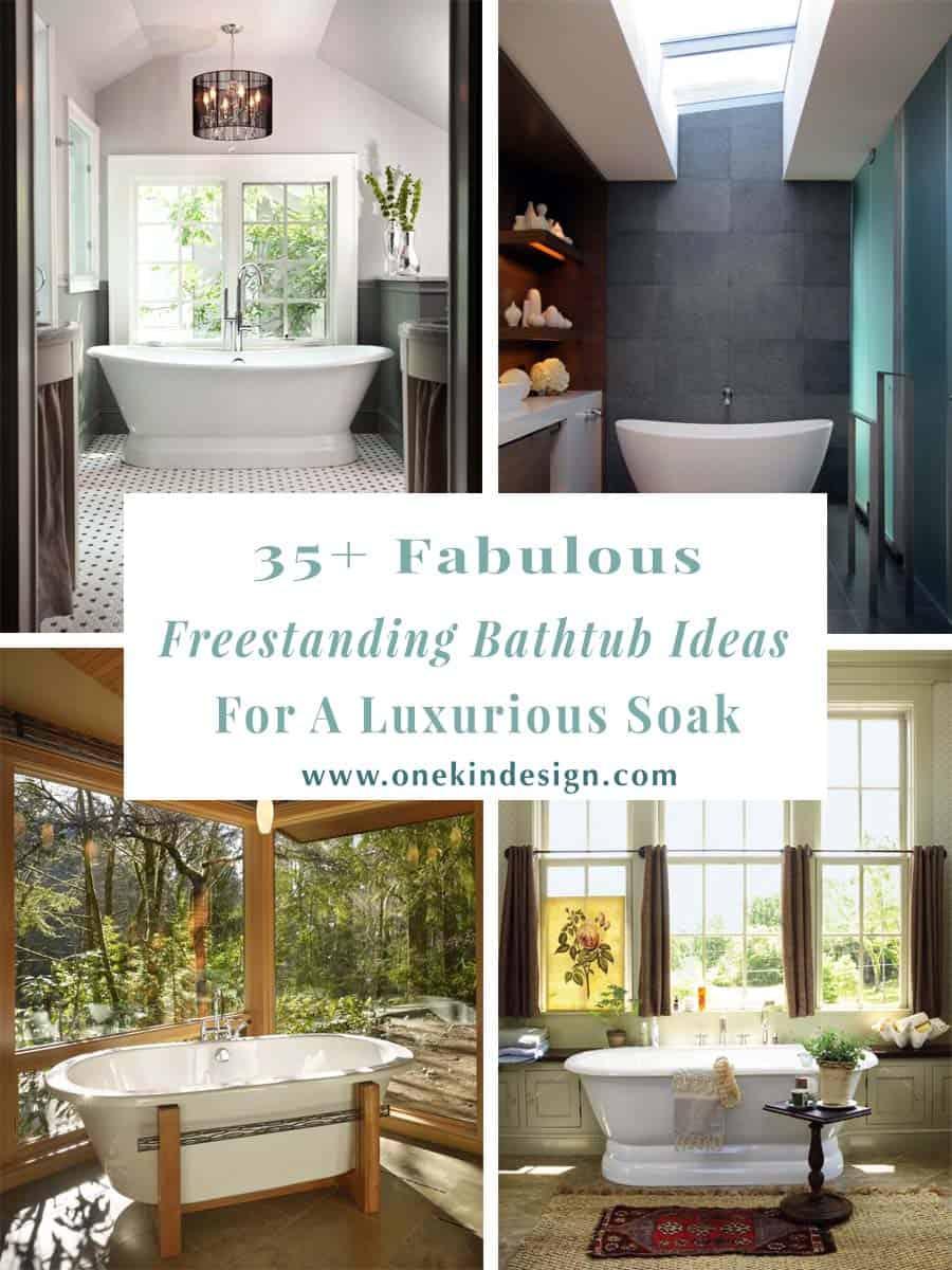 35 Fabulous Freestanding Bathtub Ideas For A Luxurious Soak