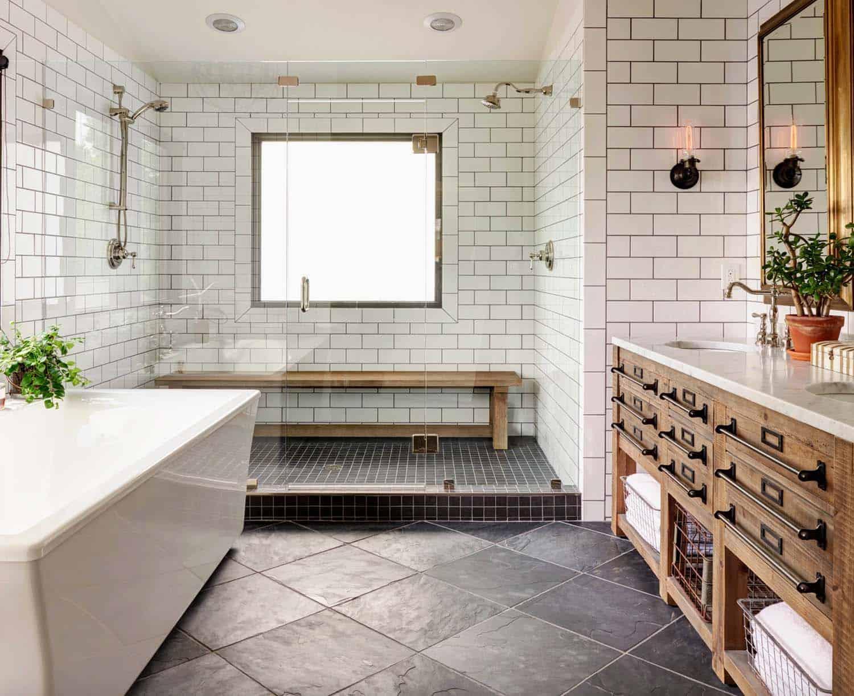 21 gorgeous farmhouse style bathrooms
