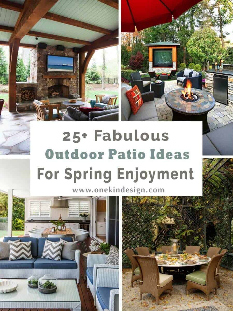 25 fabulous outdoor patio ideas to get