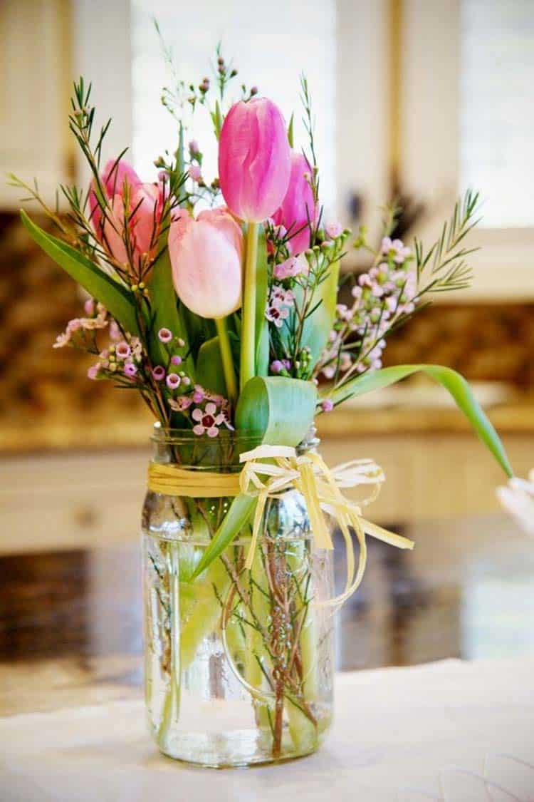 25 Ideas On How To Decorate Your Home With Spring Flower