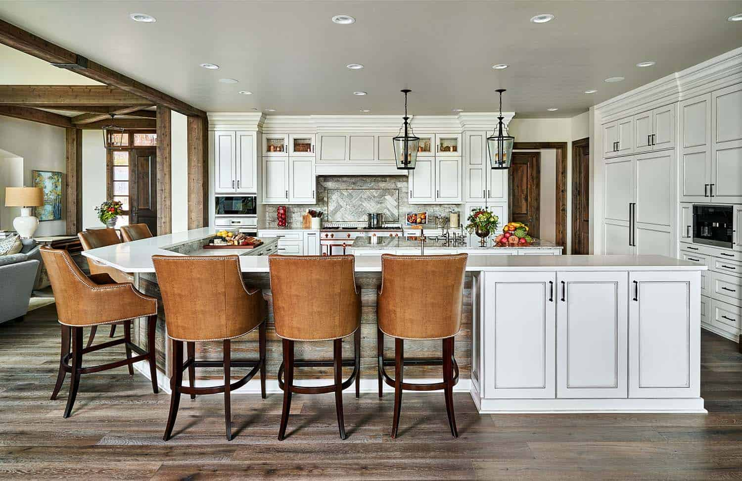 Contemporary Rustic Farmhouse With Stunning Living Spaces In