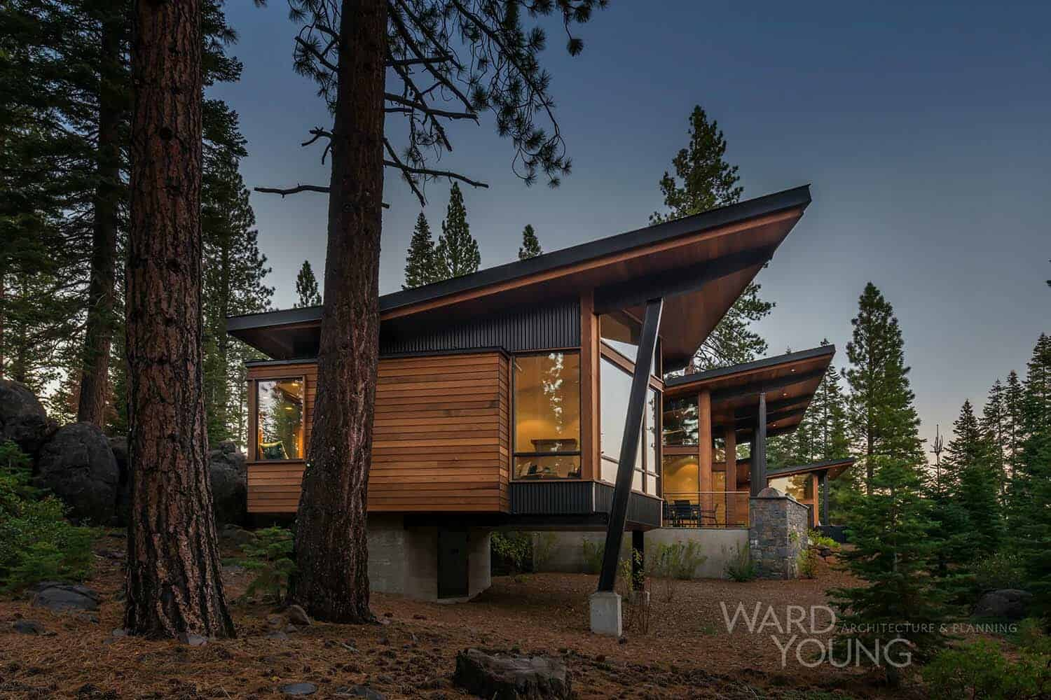 Secluded Mountain Modern Home In Martis Camp Surrounded By