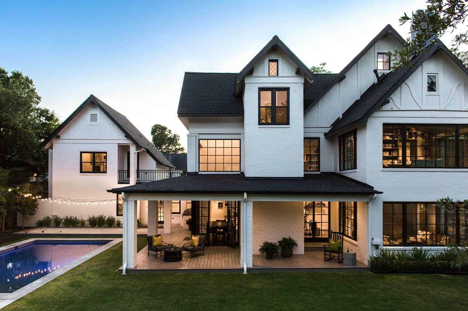 Historic Tudor Style Home In Houston Gets A Bold Modern