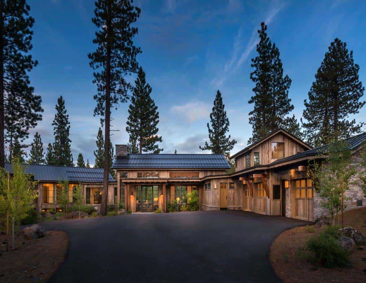 Stunning Mountain Home In Lake Tahoe Evokes Contemporary