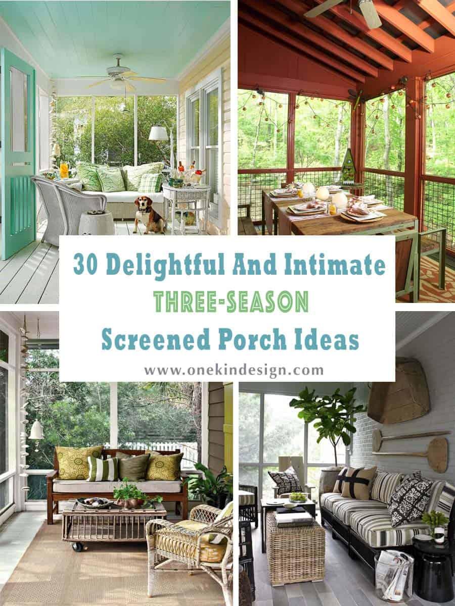 intimate three season screened porch ideas
