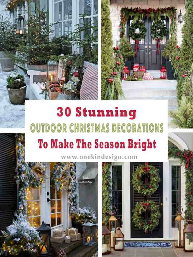 Stunning Outdoor Decorations For Merry Christmas 000 1 Kindesign