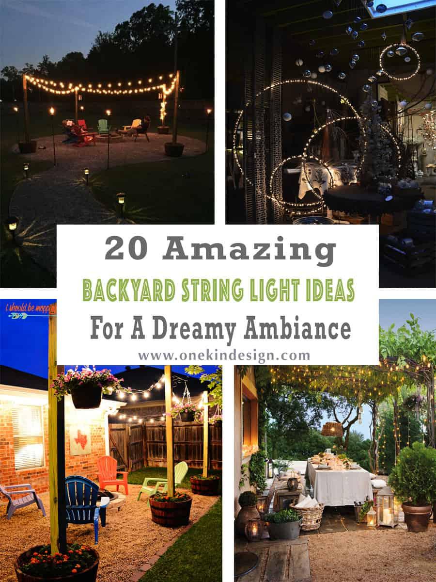 20 amazing backyard string light ideas