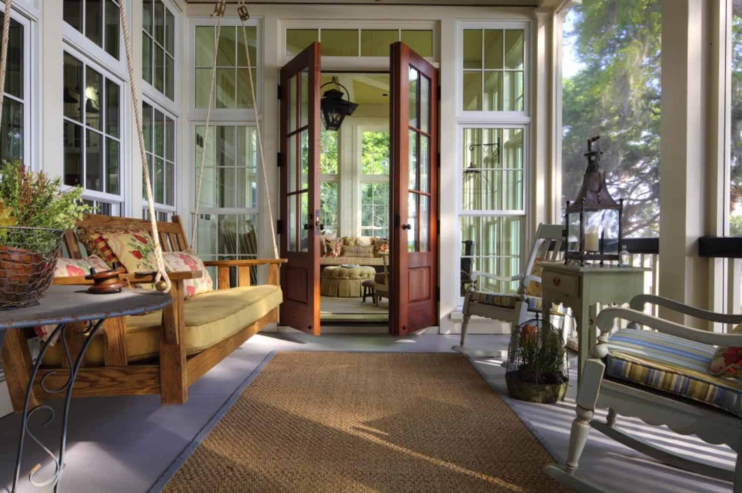 charming southern style screened porch