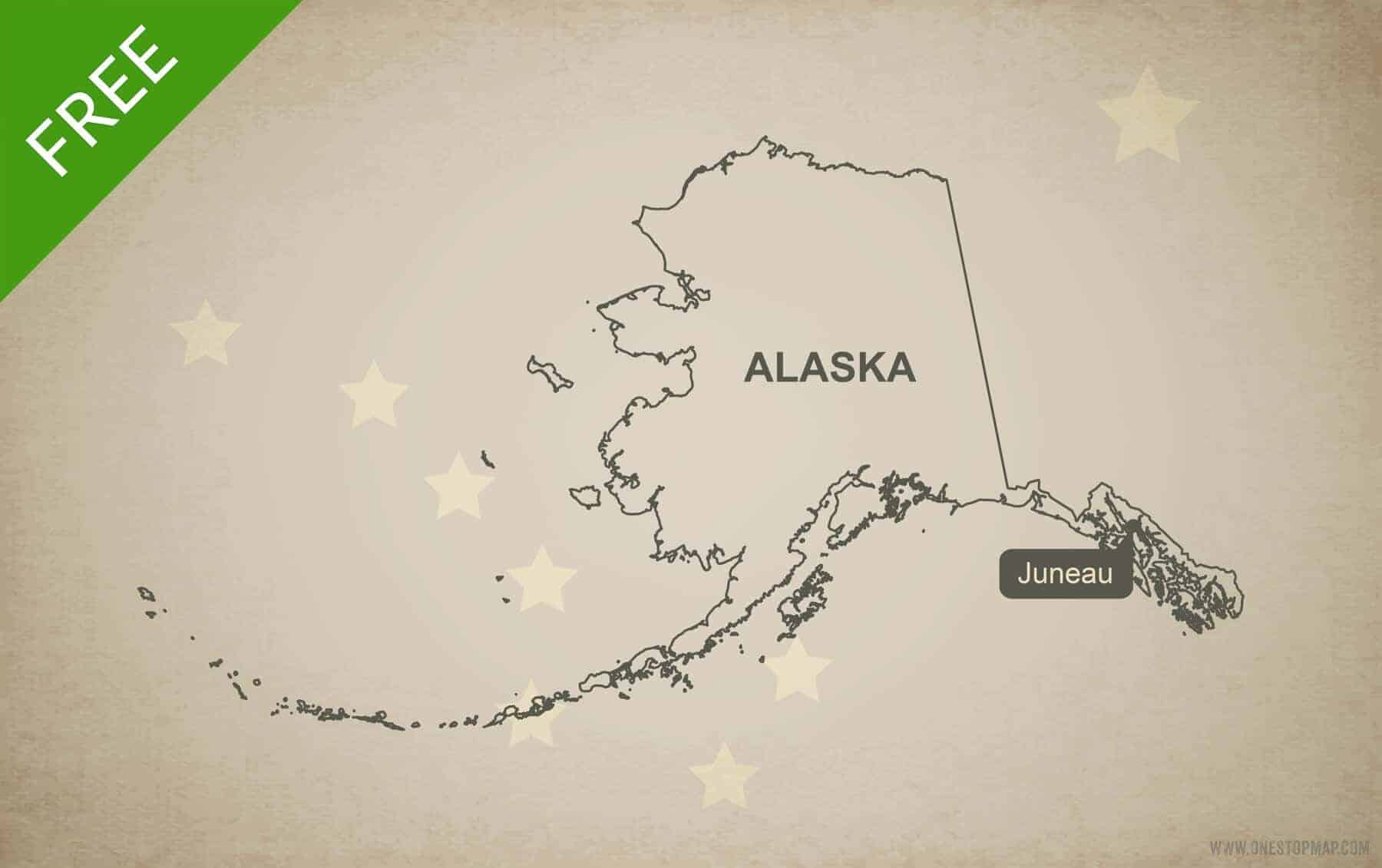 Free Vector Map Of Alaska Outline