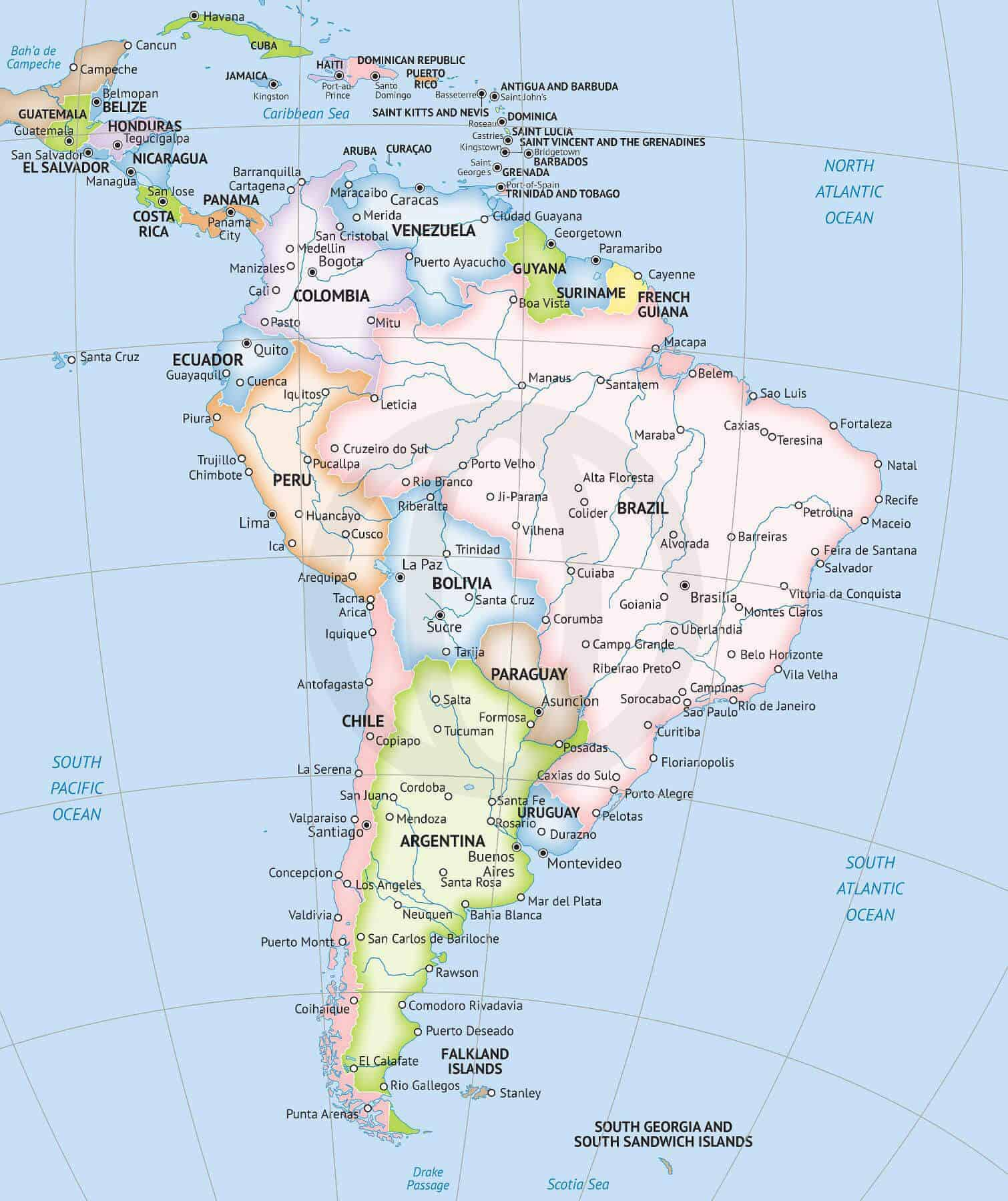 South America Map Printable That Are Dashing